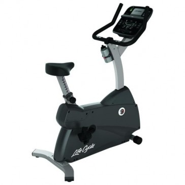 Life Fitness C1 Lifecycle Upright Exercise Bike with Track Connect Console
