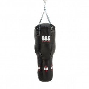 BBE CLUB Leather 110cm Uppercut Punching Bag with Chain and Swivel