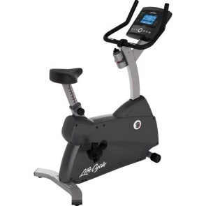 Life Fitness C1 Lifecycle Upright Exercise Bike With Go Console