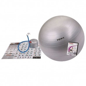 York Fitness Anti-Burst Gym Ball with Workout DVD- 65cm